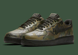 Wholesale Men Camouflage Shoe - AF1 Mens Force 1 Low Camo Reflective Pack Running Shoes Camouflage Prints Sneakers Top Quality Size 7-12 Drop Shipping