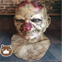 Wholesale Ghost Mask Toys - Top Grade Horror Grimace Mask Practical Joke Latex Scary Mask Zombie Corpse Mummy Devil Extraterrestrial Intelligence Ghost Mask Toy