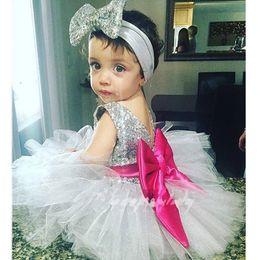 Wholesale Girl Dress Spring 2pcs - Girl INS princess Hair band paillette dress kids princess party birthday lace sleeveless bowknot dresses 2pcs set suit B001