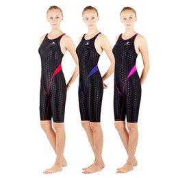 Wholesale Female Racing Suits - Hong Xing Bai Ya women's one-piece training sleeveless one-piece swimsuit racing leg in the female female professional fast dry