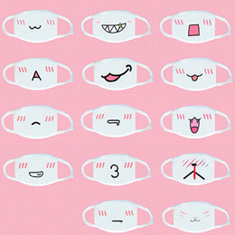 Wholesale Kawaii Mask - 10Pcs Kawaii Anti Dust mask Kpop Cotton Mouth Mask Cute Anime Cartoon Mouth Muffle Face Mask Emotiction Masque Kpop masks