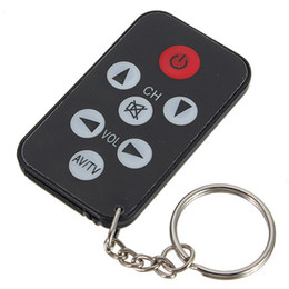 Wholesale remote control chain - Wholesale- Mini Universal Infrared IR TV Set Remote Control Key Chain 7 Keys Television Remote Control Controller Best Promotion Key Ring