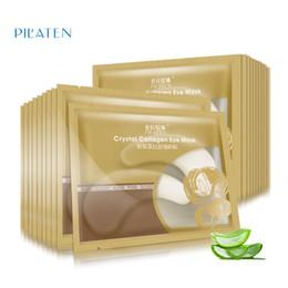 Wholesale Cheap Eye Masks - 6g Pilaten Crystal Collagen Eye Mask Anti-puffiness Dark Circle Anti Wrinkle Moisturizing Eyes Face Skin Care Cheap Price