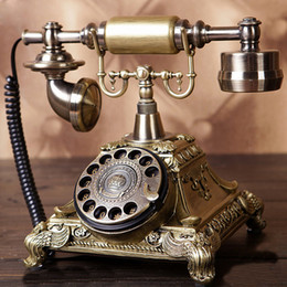 Wholesale Vintage Corded Phones - Retro Vintage Antique European Style Desk Telephone Phone Home Living Room Decor