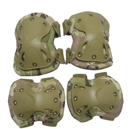 Wholesale Brown Elbows - SINAIRSOFT High Qualty Field Elbow Knee Pads Sports Safety&Elbow Pad For Sports Set Knee Protector outdoor tactical protective gear4 Pcs Set