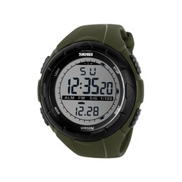 Wholesale Digital Stopwatch Compass - SKMEI Men Sports Watches World Time Compass Countdown Wristwatches 50M Waterproof 3 Alarm Digital Watch Relogio Masculino 1232