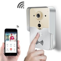 Wholesale tablet security alarm - New Wi-Fi Smart Doorbell Camera PIR Sensor Tamper Alarm 720P Home Security CCTV Wireless P2P Camera For Android IOS Smart Phone & Tablet PC