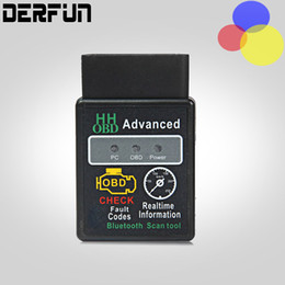 Wholesale Car Diagnostic Scanner Pc - HH OBD ELM327 Bluetooth OBD2 OBDII CAN BUS Check Engine Car Auto Diagnostic Scanner Tool Interface Adapter For Android PC
