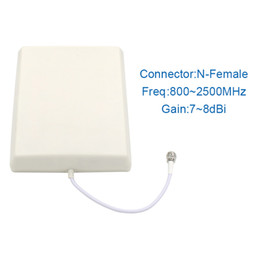 Wholesale Repeater Panel - 3 outdoor SM 3G outdoor antenna LTE1800 850MHz 900MHz Panel external antenna 3g N-female connector for cell phone booster repeater