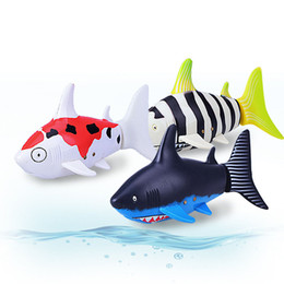 Wholesale Remote Toys For Water - New Mini RC Flying Shark UnderWater Coke RC Shark Fish 3CH Radio Remote Control Fish 3-Colors 3310B RC Toy for Kids Water Fun