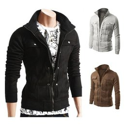 Wholesale Korean Jacket For Men Long - 2017 New Hot 5 Colors Sports Coat Confortable Fashion Tops For Men Korean Slim casual Sweatshirt Men Top Jackets