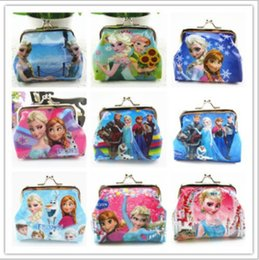 Wholesale Wholesale Girls Change Purse - frozen Kids Poke go Pikachu wallet printed cartoon children change pocket kids coin purse girl handbag