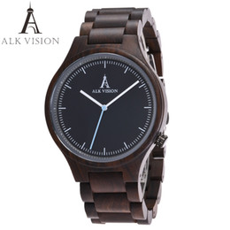 Wholesale Wooden Wood Watch - ALK Vision 2017 Wood watch Women watches couples clock men watches top brad luxury Fashion Ladies wristwatch