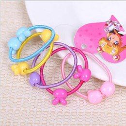 Wholesale Animal Shape Rubber Band - Wholesale- 50 Pcs lot Cartoon Animal Shape Elastic Hair Bands Baby Mini Rubber Band Hair Rope Ponytail Holder for Kids Girl 990-992 An Ling