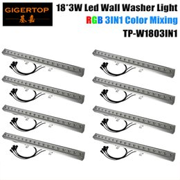 Wholesale Waterproof Flood Led Rgb Dmx - TIPTOP 8XLOT Waterproof Outdoor DMX LED Wall Washer Light RGB LED Flood Light for Xmas Party Nightclub Bar 18 X 3 W 3IN1 Leds