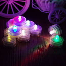 Wholesale Underwater Led Tea Lights - 10PCS Submersible Waterproof Underwater Tea Light Colour Changing Flameless Safety LED Candles for Wedding Decoration Tea Vase Battery light