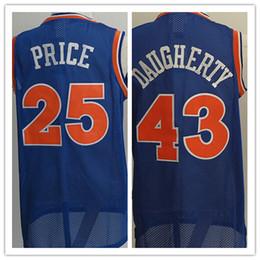 Wholesale Men Mixed Shirt - Wholesale Mens 25 Mark Price Jersey Throwback Blue Cheap #43 Brad Daugherty Basketball Jerseys Shirt Uniform Sports Mix Order