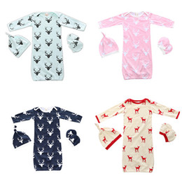 Wholesale Beanie Kids Clothes - SALE Infant Sleeping Bags Newborn Nursery Bedding Suit Hats beanie Gloves Coverall Sets Baby Kids clothing Children sleeping bags 786
