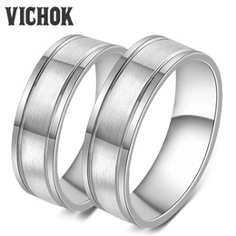 Wholesale Rings Fine Jewelry - 316L Stainless Steel Rings For Lover Women Men Fine Ring Jewelry Party Engagement Jewelry Sets Accessories Vintage Ring Bands VICHOK
