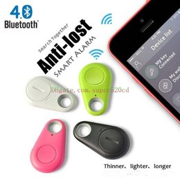 Wholesale Smart Wireless China - Hot Wireless Bluetooth Tracker Bags Pet Kids GPS personal Locator Alarm Itag Smart Finder Anti Lost Reminder body alarms free shipping
