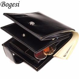 Wholesale Man Wallet Pouch Coin - 2017 Brand Coin Wallet Men Clip Cowhide Wallet Men Small Clutches Men's Purse Coin Pouch Short Men Wallet