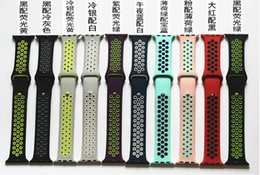 Wholesale Silicone Watches Packaging - High Quality Silicone Sport Band Strap For Apple Watch 38mm 42mm Smartwatch Wristband Bracelet Watch strap With Retail package free shipping