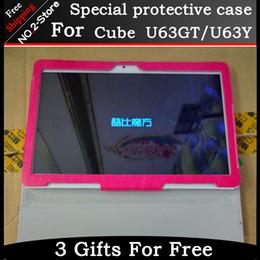 cassa da 9,6 pollici Sconti All'ingrosso-Moda custodia protettiva per Cube U63GT 9.6 pollici Tablet PC, per Cube U63 pieghevole supporto manicotto protettivo Freeshipping