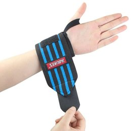 Wholesale Hand Wrist Exercises - Wholesale- 2PCS COOL Men Weight Lifting Wrist Band Anti-sprain Wrist Support Gym Fitness Brace Training Exercise Thumb Pad Hand Protection
