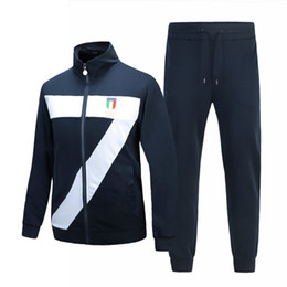 Wholesale Sequin Lapel - New Arrival Italian style Men's Sportswear Suit Plus Size Set Male Active Cotton Clothing Suit Tracksuits Sweatshirt+Pants 5627