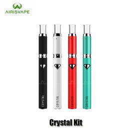 Wholesale Crystals Tops Wholesale - 100% Original Airistech Crystal Heating Wax Pen 500mAh Rechargeable Battery Top Airflow Wax Atomizer E Cigarette Vaporizer
