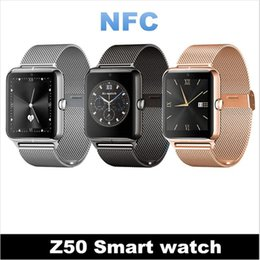 Wholesale Slim Men Wrist Watches - Luxury Slim Men And women Watch Z50 Bluetooth Smart Watch Fitness Tracker NFC Sync Call  SMS   Facebook Compatible with IOS Android Phone