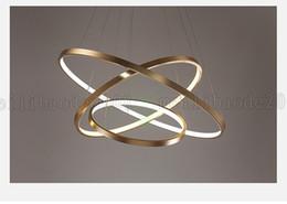 Wholesale Aluminum Circular - BE23 3-Rings Nordic Aluminum+Iron Chandeliers Pendant Lamps Lights Circular Round Restaurant Dining Room Study Bedroom Living Room Lighting