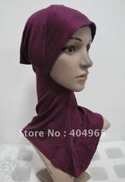 Wholesale Mini Ninjas - Wholesale- H405c fashion ninja underscarf and hats,mini hijab,fast delivery,free shipping,assorted colors ninja