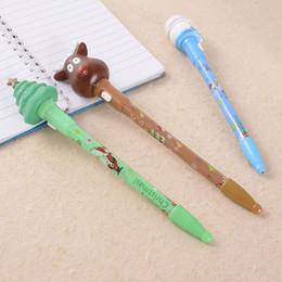 Produttori di palle di natale online-I produttori che vendono la penna di luce di Natale penna di cancelleria creativa penna promozionale regalo di pubblicità penna a sfera personalità all'ingrosso
