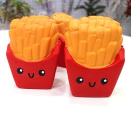 Wholesale Cute Kids Toys - New Slow Rising Squishies High Quality Kawaii Cute Jumbo French Fries Soft Scented Bread Cake Squishy Stretch Kid Toy Free DHL