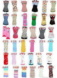 Wholesale chevron socks - 12Pair Baby Christmas Leg Warmer kids Chevron Leg Warmers infant colorful socks Legging Tights Leg Warmers 318 Styles