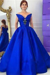 2019 vestidos de noiva da mãe da noiva 2017 Elegante Mãe de Cristal Da Noiva Noivo Vestidos Até O Chão Vestidos Royal Blue Custom Made vestido de Baile Mãe off Vestidos de Noiva vestidos de noiva da mãe da noiva barato