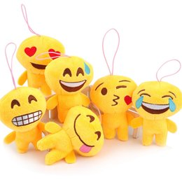 Wholesale Facial Tables - Small facial expressions a variety of emotional table cute key chain toys Gif QQ expression cartoon 100pcs