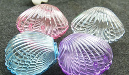 Wholesale clear candy container wholesaler - Clear Plastic Shell Candy Boxes Beach Theme Wedding Birthday Party favors Box DIY beaded container Festive Christmas Decor gift wrap case