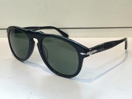 Italienische sonnenbrille online-Luxus Herren Designer Sonnenbrille PE649 Beliebte Piloten Form Kunststoffrahmen Retro Männer Brillengläser Klassische Designer Stil Italienische Designer