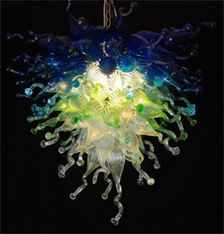 Wholesale Chihuly Style Chandeliers - Chihuly Style Colored Blow Glass Chandeliers CE UL Certificate Murano Glass Crystal Decorative LED Chandeliers Antique Hanging LED Lamps