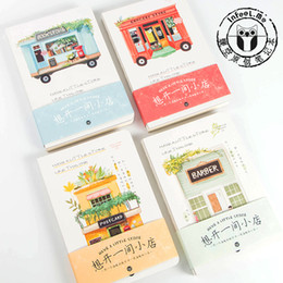 Wholesale Wholesale Printed Notepads - Wholesale- 1Pc Have a Little Store Glazed Printing Paper Blank Notebook Journal Diary Notepad Soft Copybook Note Book Cute Stationery A5