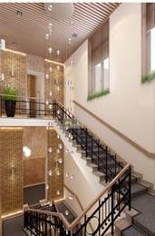 Wholesale Foyer Lighting Semi Flush - Phube Lighing LED Meteor Shower Crystal Chandelier Light Fixtures Stairwell Chandelier Modern Foyer DIY Crystal Chandelier 36 Head