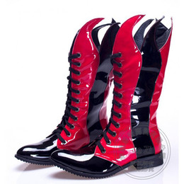 Wholesale High Heels Pole - Lace Up Safety Chukka Biker Motorcycle Boots Mid-Calf Hi Street Punk Spring Autumn Half Leather Men Shoes Rock Pole Dancing