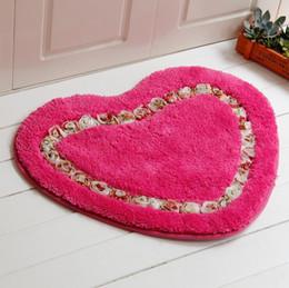 Wholesale Cheap Door Mat - Love luxury Flower Rose Door Rugs Hall Bedroom Carpets Stock Bathroom Carpets Antiskid Mat Absorbent Carpet 2017 Cheap tea table Carpets