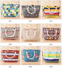 Wholesale Boat Handbag - clutches bags Women Ladies Fashion Boat Anchor Canvas Shoulder Bag Stripes New Summer Beach Handbag Bags Totes