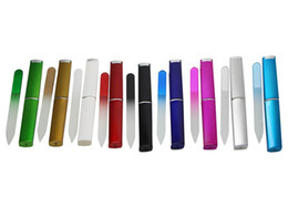 "Wholesale Cases Free Shipping - Crystal Glass Nail File with a HARD CASE 3 1 2"" Your Choice of Colors FREE SHIPPING#NF009"