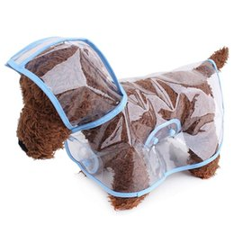 Wholesale Raincoat For Puppies - 20pcs lot Waterproof Pet Dog Clothes Clear Transparent Dog Raincoat Puppy Costume For Small and Medium Dog WA1227
