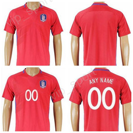 Wholesale H Shirts - South Korea Jersey 2017-18 Soccer 11 H M Son 16 S Y Ki Football Shirt Uniforms Kits National Team Red Color Make Customized Thailand Quality