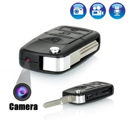 Wholesale Video Hidden Car Key Camera - Spy Hidden Cameras 818 car key Keychain Hidden camera Video DVR Recorder Camcorder Spy cam Motion Detection listen device